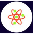 atom computer symbol vector image vector image