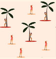 beach summer vacation seamless pattern vector image