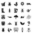 bedbug icons set simple style vector image