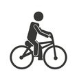 bicycle man biker icon vector image vector image