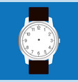 blank hand watch face on blue background vector image vector image