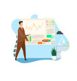 business strategy analysis vector image