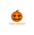 card with halloween pumpkin vector image vector image