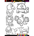 cartoon dogs set for coloring book vector image vector image