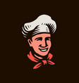chef with hat restaurant logo vector image