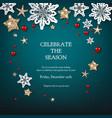 christmas blue holiday vector image
