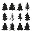 Christmas tree silhouettesBlack vector image vector image