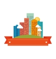 cityscape buildings skyline icon vector image vector image