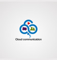 cloud communication logo icon element and vector image