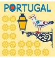 Concept card with tipical portuguese lantern and vector image