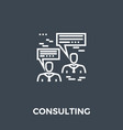 consulting icon vector image