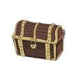 doodle dower chest vector image