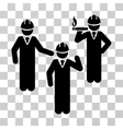 Engineer Persons Discussion Icon vector image vector image