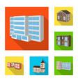 facade and housing symbol vector image