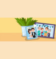 family photos best moments on pictures portraits vector image vector image