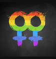 female gender symbol vector image vector image