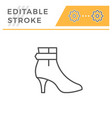 female shoe editable stroke line outline icon vector image vector image