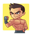 Fitness man vector image