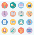Flat education icons Science and knowledge vector image vector image