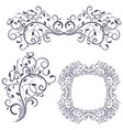floral decorative frame and ornaments wedding vector image vector image
