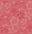 Geometric floral motif in coral shades