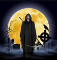 Ghost with a scythe vector image vector image