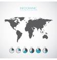 growth economy statistics icons vector image vector image