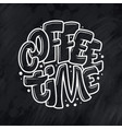 hand lettering quote with sketch for coffee shop vector image vector image