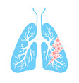 icon of lung hit vector image vector image