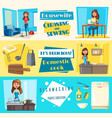 icons for housework cleaning washing sewing vector image vector image