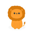 lion icon cute cartoon funny character baby vector image