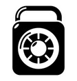 lock element icon simple black style vector image vector image