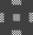 Modern Chess board sign Seamless pattern on a gray vector image vector image