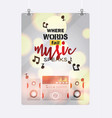 music pattern sound system audio acoustic vector image vector image