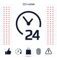 open around the clock icon opening hours symbol vector image