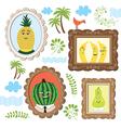 portrait fruits vector image vector image