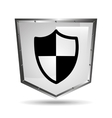 Protection security symbol shield steel icon