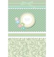 Retro fashion floral greeting card vector image vector image