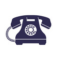 retro styled telephone vector image vector image
