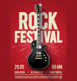 rock festival concert party flyer poster template vector image vector image