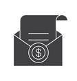 salary glyph icon vector image