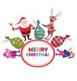 Santa Claus Label vector image vector image