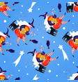 seamless pattern with icons befana background vector image vector image