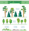 set different trees vector image vector image