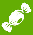small candy icon green vector image vector image