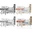 Social Media word cloud vector image vector image
