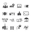 sport club icons set vector image vector image