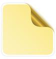 sticker corner with metallic backs vector image vector image