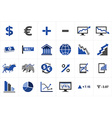 Stock market finance icon set vector image