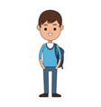 student carrying bag cartoon icon image vector image